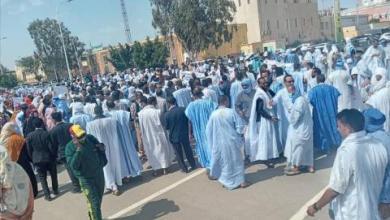صورة نواكشوط : المعلمون ينظمون مظاهرة حاشدة أمام القصر الرئاسي