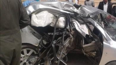 صورة نواذيبو :   حادث سير مروع يودي بحياة شابين
