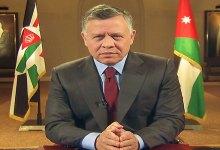 صورة ملك الأردن : تم وأد الفتنة والأمير حمزة اليوم مع عائلته
