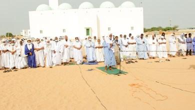 صورة إقامة صلاة الاستسقاء في عموم أنحاء موريتانيا