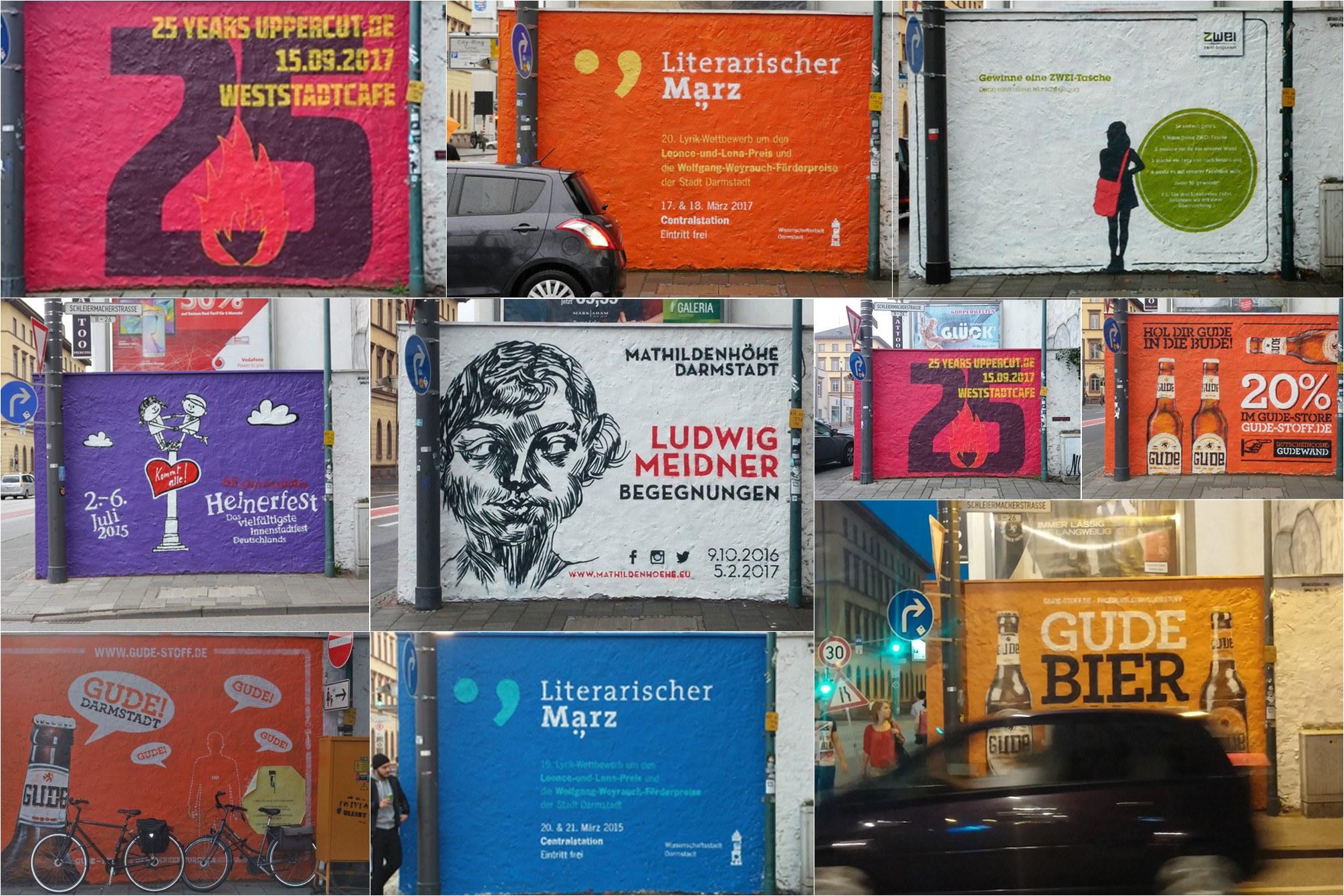 Collage aus mehreren Großflächen Plakaten.
