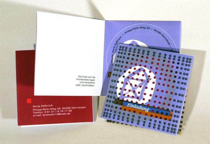 Faltkarte, Einladungskarte