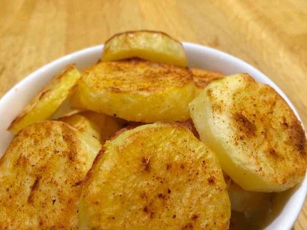 Gezonde gebakken aardappelen