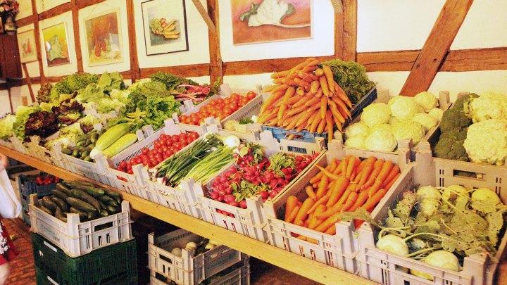 regionales Gemüse in Pöligs Gemüsescheune