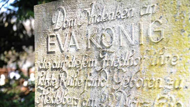 GEdenkstein für Eva König in Wolfenbüttel