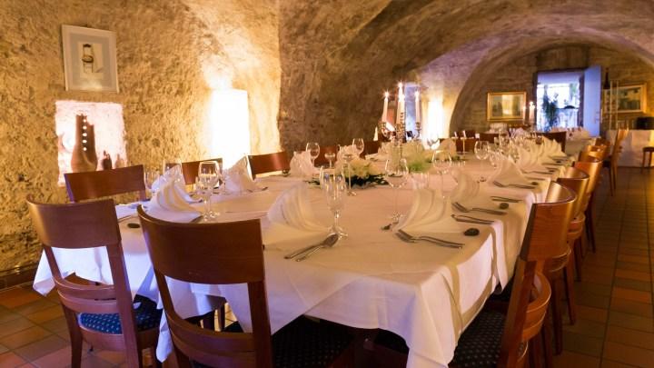 Der gewölbereich in einem Wolfenbütteler Restaurant