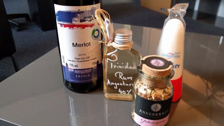 Wein, Rum, Gewürz und Zuckerhut