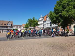 Radfahrer Stadtmarkt Wolfenbüttel