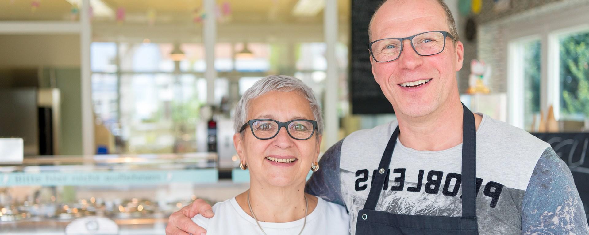 Christine und Jörg Borkowski vom Eiscafé Wolfenbütteler Eismanufaktur.
