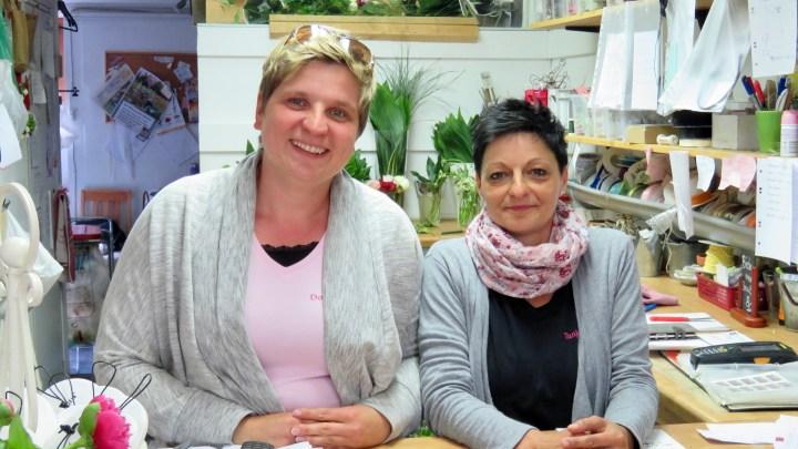 Doreen Mildner und Ihre Mitarbeiterin Tanja Schmidt.