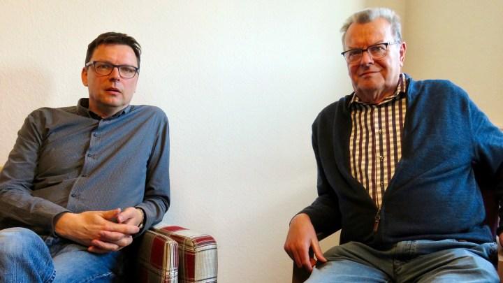 Zwei Generationen - eine Bäckerei: Carsten und Dieter Richter.