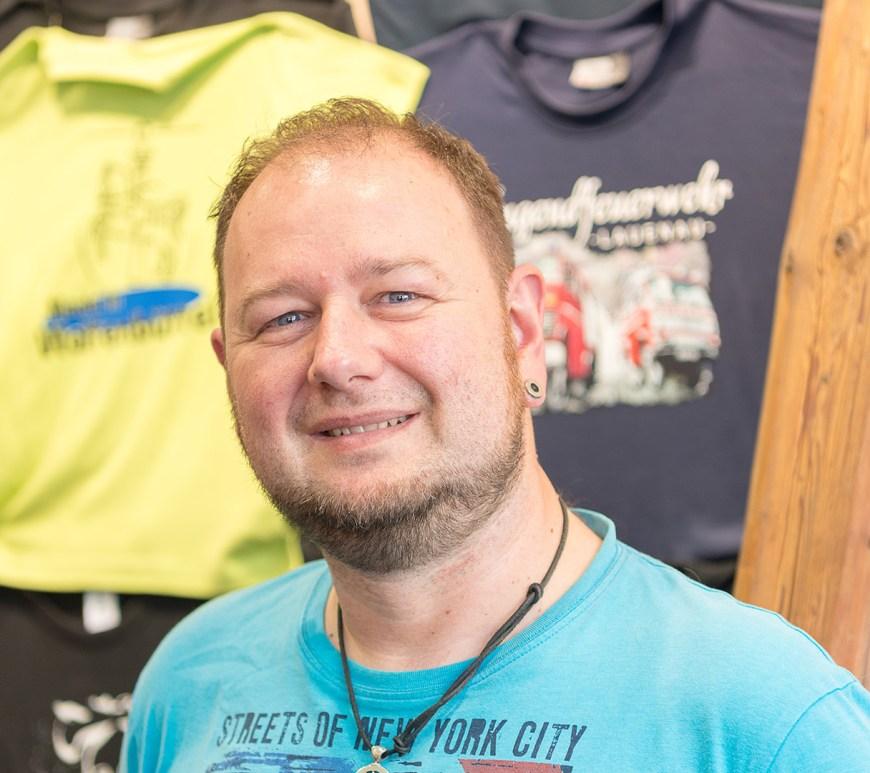 Bernd Höpner von der T-Shirt Schmiede.