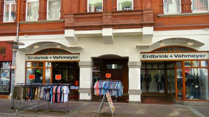 Das Geschäft Erdbrink & Vehmeyer auf der Kommissstraße.