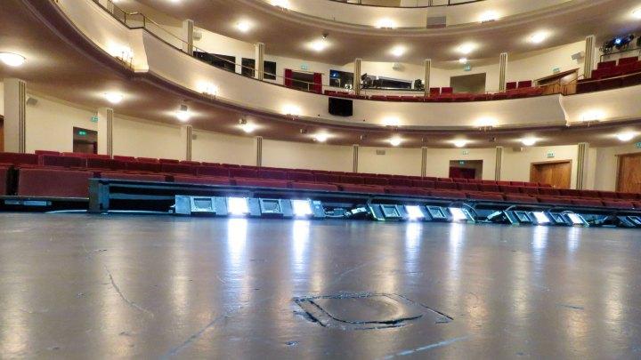 Blick von der Bühne des Staatstheaters