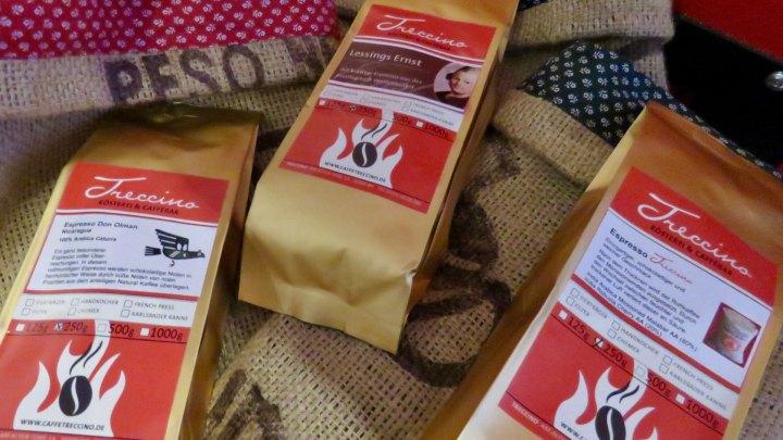 Bei Treccino gibt es verschiedene Kaffeesorten zur Auswahl.