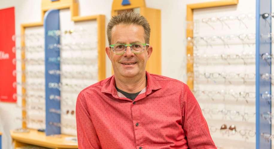 Olaf Opitz vom »Brillenstudio Lehmann«.