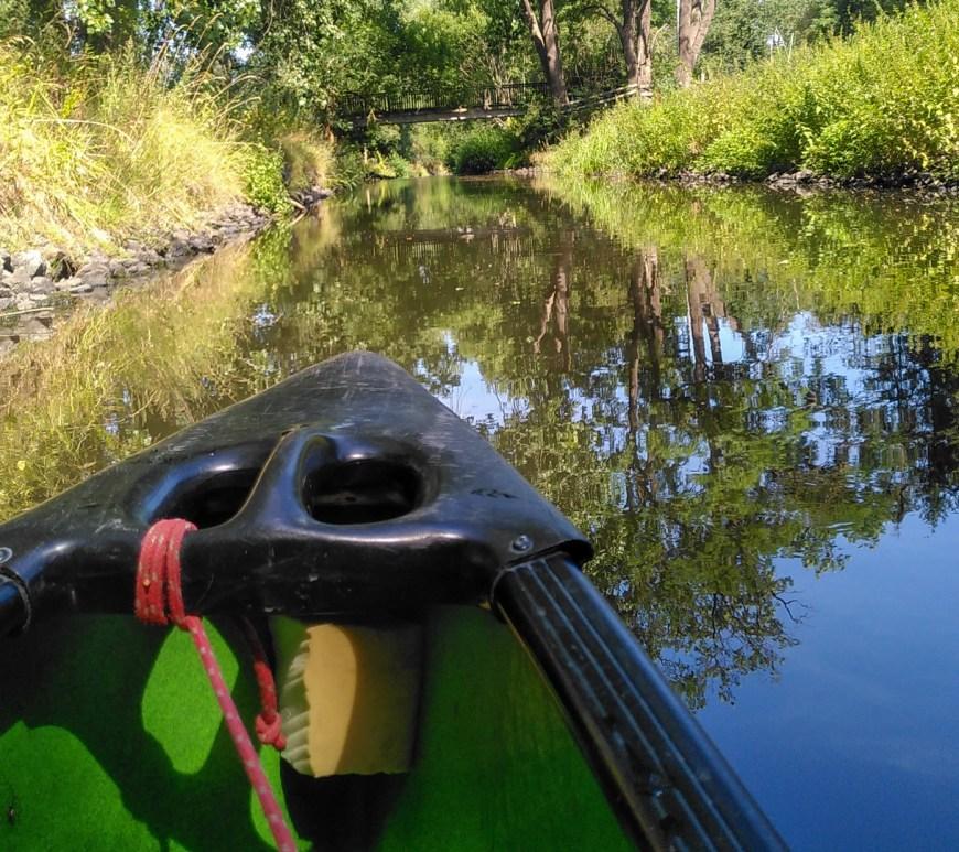 Kanu auf der Oker