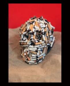 Cigarette Butt Skull