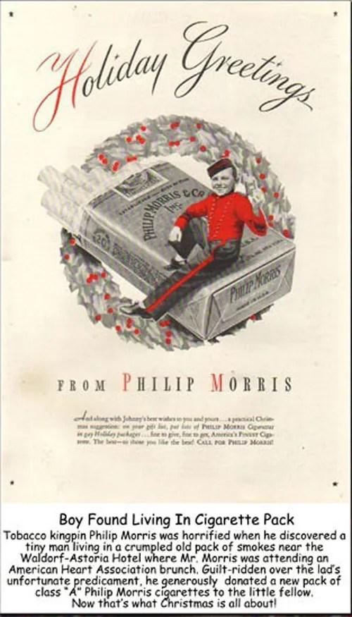 Fractured Christmas Ad-Philip Morris Ad - e-cigarette news
