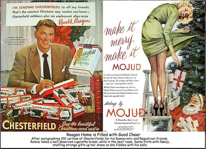 Fractured Christmas Ad-Reagan -Chesterfield- e-cigarette news