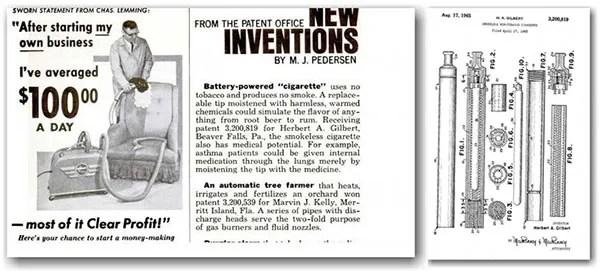 First E-Cigarette Patent 1965