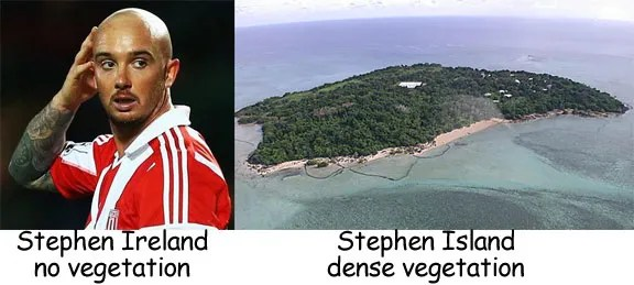 Belting Look Alikes Stephen Ireland and Stephen Island