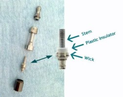 Dry Burning Your E-Cigarette Replacement Heads - Advantages and Risks - Bottom coil atomizer