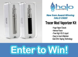 Halo Cigs Tracer Mod Starter Kit Giveaway
