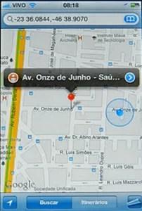 Mapa Projeto rastreador Moto