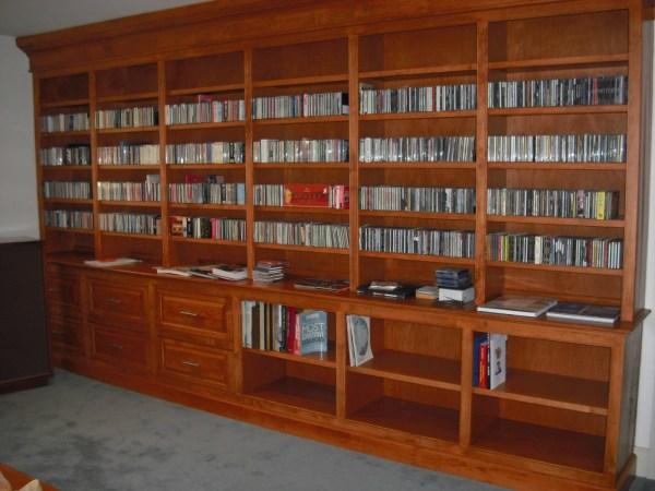Custom Built in Bookshelves Plans