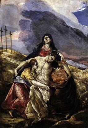http://en.wikipedia.org/wiki/Grief#mediaviewer/File:El_Greco_Pietà.jpg