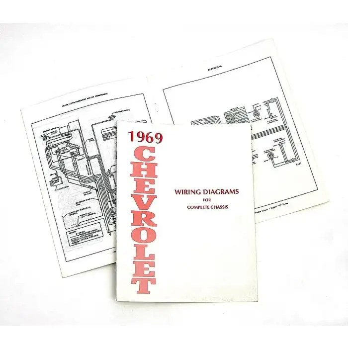 Full Size Chevy Wiring Harness Diagram Manual, 1969