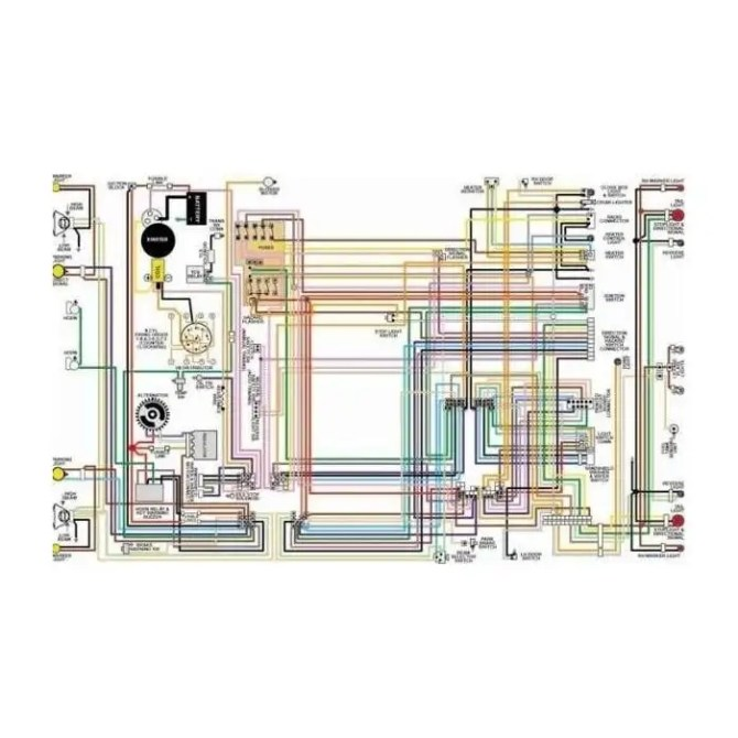 ford falcon color laminated wiring diagram 19601969