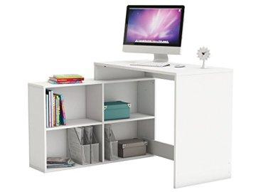 """Eckschreibtisch Schreibtisch Arbeitstisch Bürotisch Tisch """"Dewirovo I"""" (Weiß) -"""