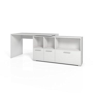 Eckschreibtisch Weiß Schreibtisch winkelbar Winkelschreibtisch Bürotisch -