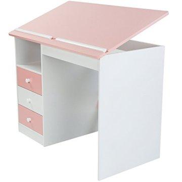 Infantastic Kinderschreibtisch Schreibtisch für Kinder Basteltisch Zeichentisch mit neigbarer Tischplatte in 2 verschiedenen Farben -