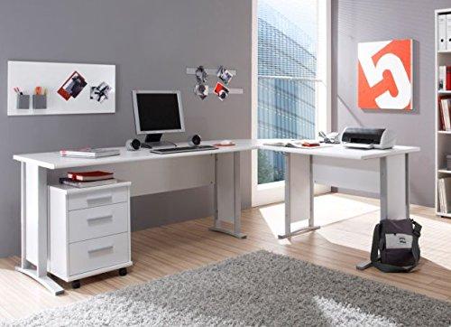 Office Line Winkelkombination Schreibtisch In Weiß