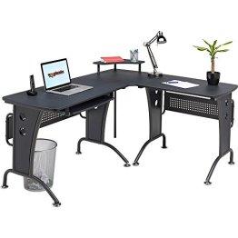 Piranha Großer Computerecktisch in grafitschwarz für das Home Office PC21g -
