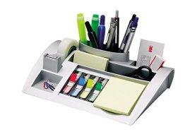 Post-it C50 Tisch-Organizer (inkl. Haftnotizen und Scotch Klebeband) metallic silber -