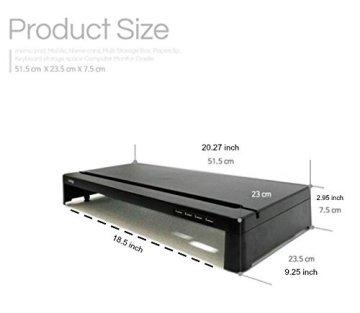 Cyanics i-bridge mc-300Monitor Laptop Ständer Slim Universal Multimedia stehen, mit Schreibtisch Organizer White (No HUB) -