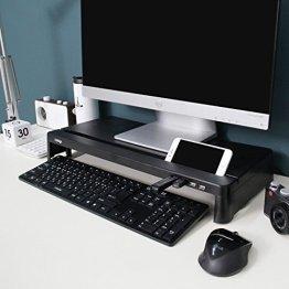 Cyanics i-Bridge MC-300Monitor-/Laptop-Ständer, USB-Hub, schmal, universal, Schwarz -