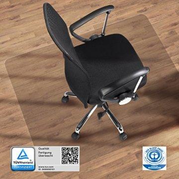 etm® Bodenschutzmatte - 120x90cm   TÜV und Blauer Engel   transparent, für Laminat, Parkett, Fliesen und Hartböden -