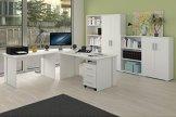 Komplettes Arbeitszimmer Büro Möbel Set in Weiss -