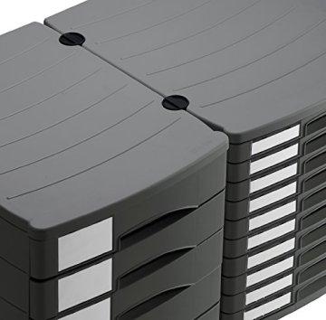 Rotho 1107008853 Schubladenbox Bürobox ProfiLine aus Kunststoff (PS), 5 geschlossene Schübe, A4-Format mit Beschriftungsfeldern, hochwertige Qualität, circa