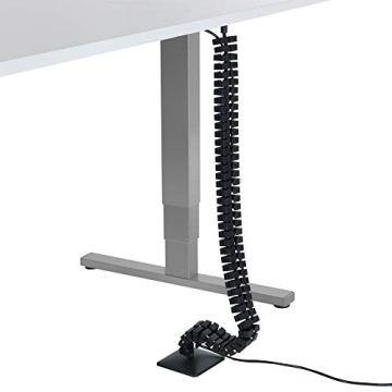 boho möbelwerkstatt Slim Line Kabelführung Kabelkanal Kabelmanagement in Schwarz Matt für höhenverstellbare Schreibtische variabel kürzbar mit 66 flexiblen Elementen - 2