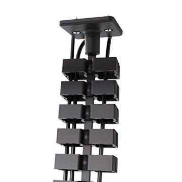 boho möbelwerkstatt Slim Line Kabelführung Kabelkanal Kabelmanagement in Schwarz Matt für höhenverstellbare Schreibtische variabel kürzbar mit 66 flexiblen Elementen - 4