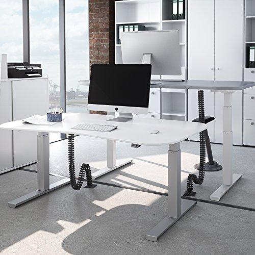 OFFICE ONE Kabelführung Kabelkanal Schwarz für elektrischen Schreibtisch kürzbar