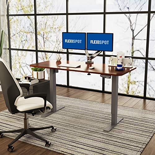 Flexispot E1B Höhenverstellbarer Schreibtisch Elektrisch höhenverstellbares Tischgestell 2-Fach-Teleskop, mit Memory-Steuerung (Schwarz) - 7