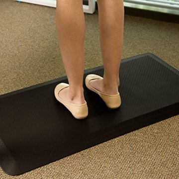 Flexispot MT1B Antimüdigkeits Komfortmatte Steh-Bodenmatte ergonomische Matte für Arbeitsplätze,Stehschreibtische, Küchen, Bad Anti-Ermüdungsschicht 100cm x 51cm x2cm - 1