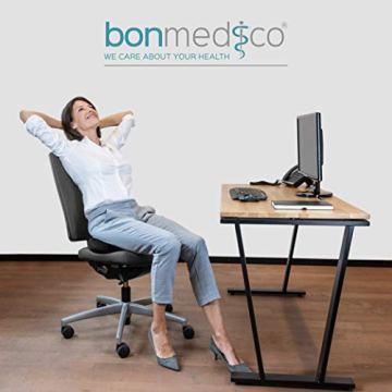 bonmedico Orthopädisches Hämorrhoiden-Sitzkissen mit innovativer Gel-Schicht, Sitzring wirkt schmerzlindernd, auch zur Steißbein-Entlastung für Auto, Sofa, Büro & Rollstuhl, Normal - 2